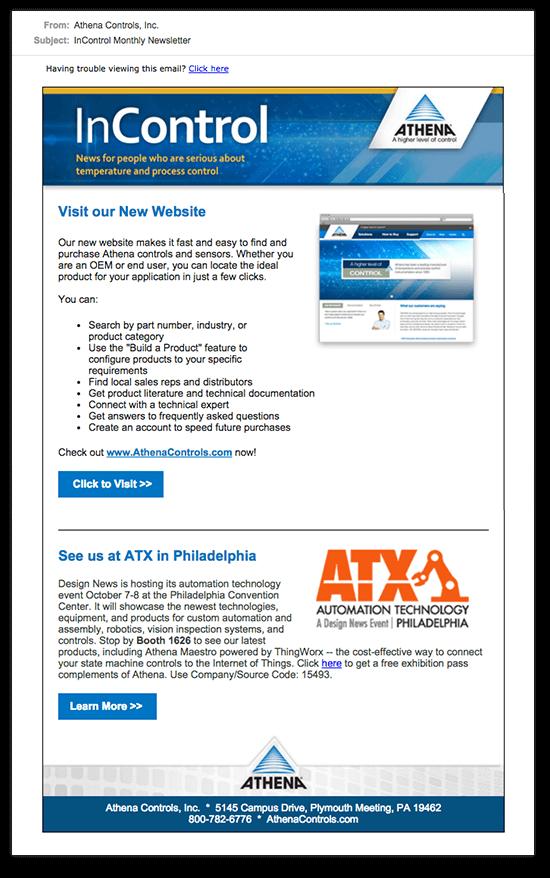 Athena Newsletter Emailer