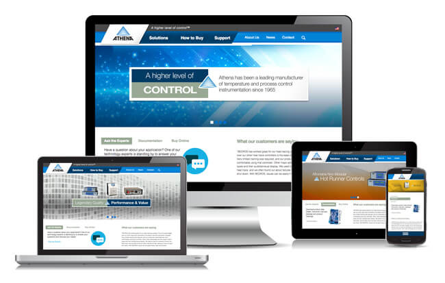 Athena Controls Website Design