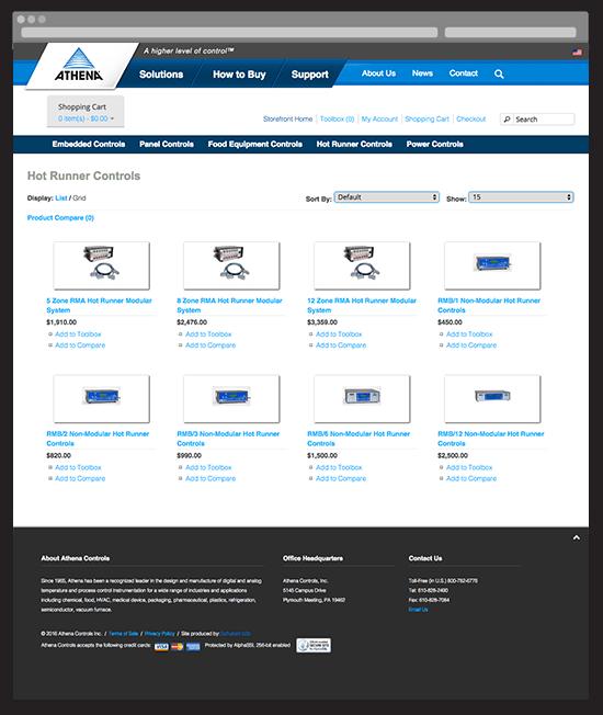 Athena eStore Catalog Page