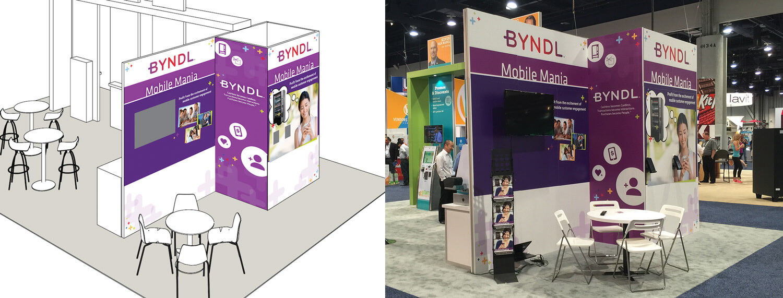 BYNDL B2B Trade Show Booth
