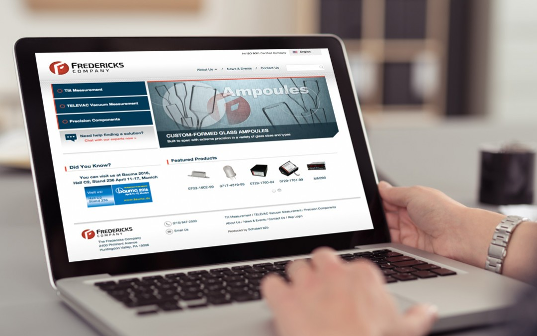 Fredericks Company Selects Schubert b2b to Develop Website That Unites Brands and Enhances Customer Support