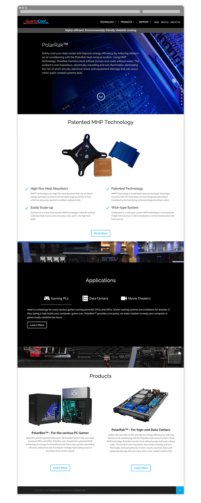 QuantaCool Web Homepage Design